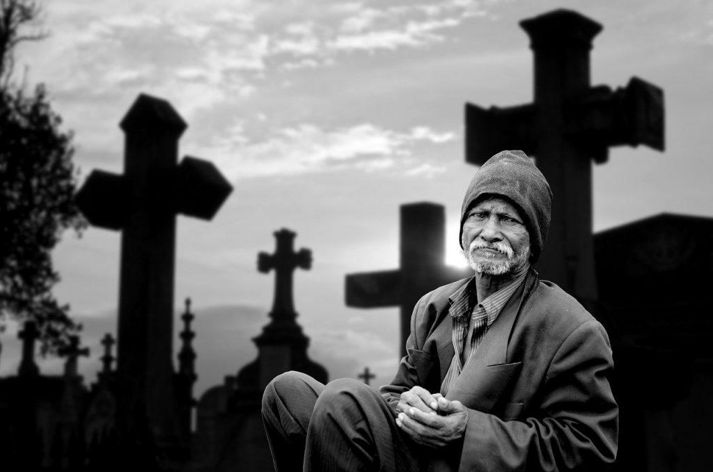 human, man, mourning