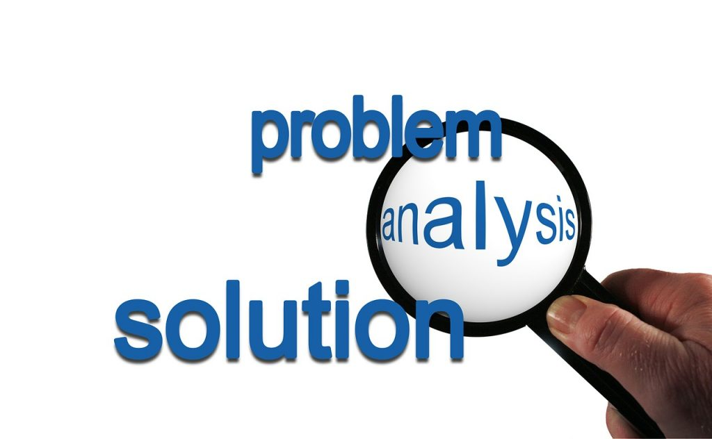problem, analysis, solution