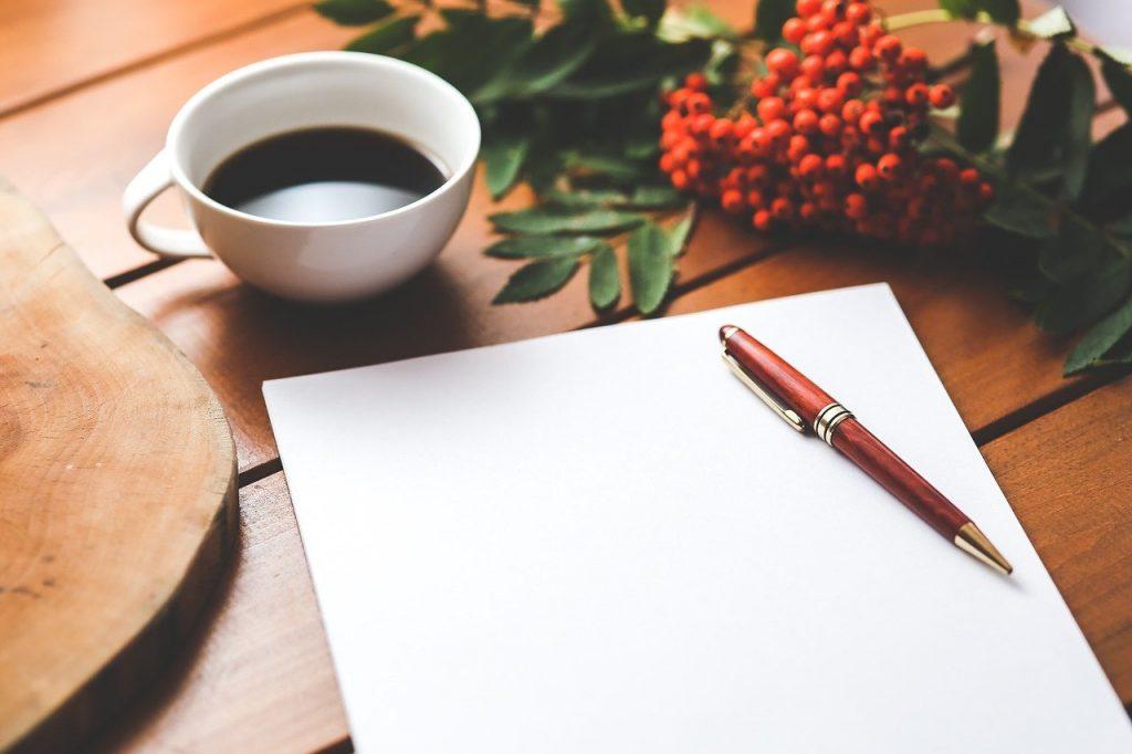 blank, paper, pen