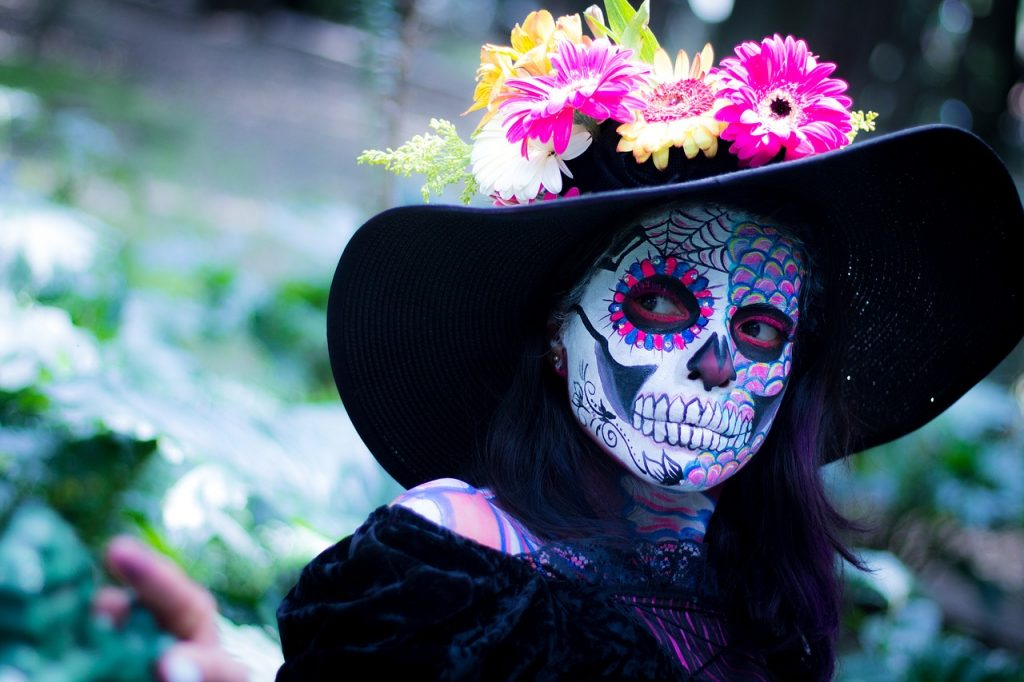 day of the dead, costume, makeup