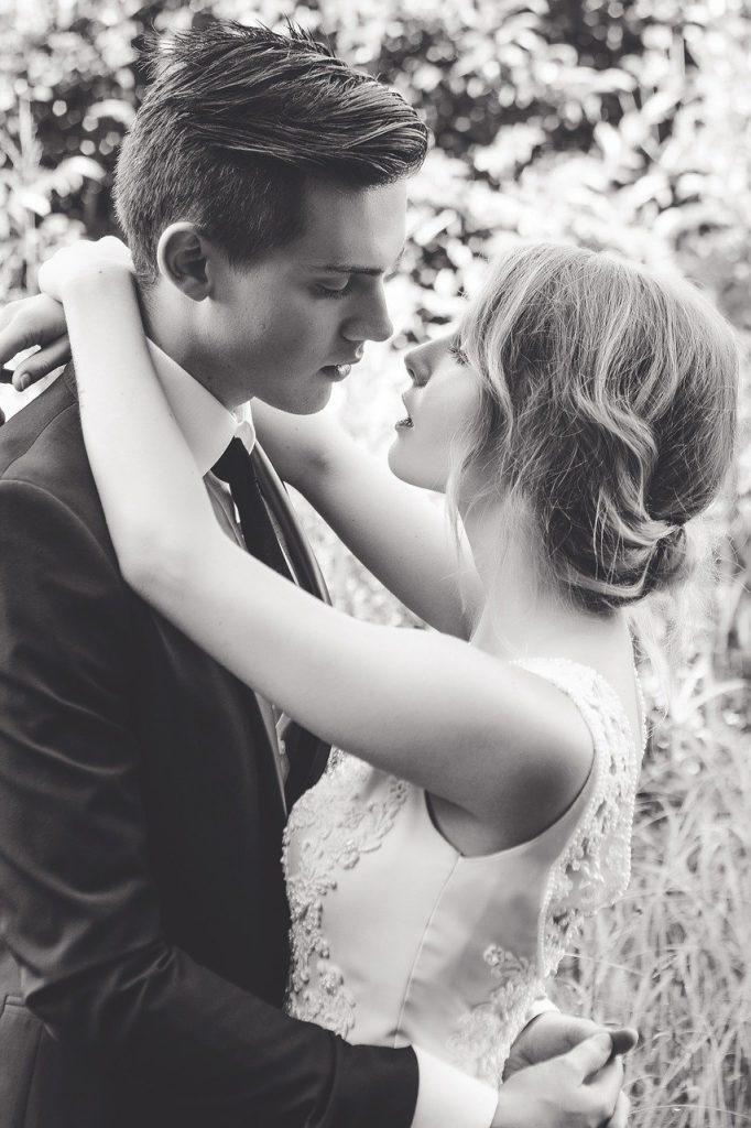 wedding, couple, portrait